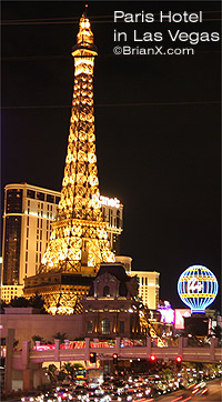 Paris Theme Hotel in Las Vegas Nevada